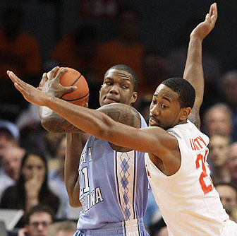 Deon Thompson, 15 points, leads four Heels in double figures.