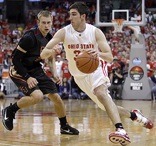 Jon Diebler's play is key in Ohio State's victory, scoring 22 points including six 3-pointers.  (AP)