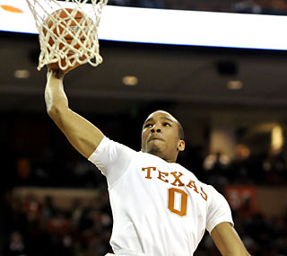 Freshman Avery Bradley leads all Longhorns in scoring with 17 points on 7-of-13 shooting. (AP)