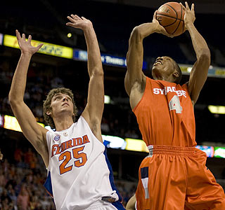 Wesley Johnson adds 17 points and 10 rebounds in Syracuse's victory over Florida.  (US Presswire)