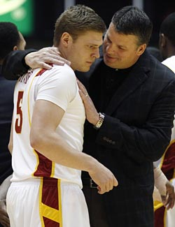 Iowa State coach Greg McDermott was counting on Lucca Staiger. (AP)