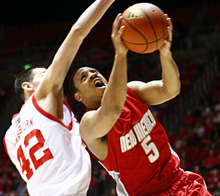 New Mexico's Dairese Gary scores 19 points as the Lobos notch a rare win in Salt Lake City.  (AP)