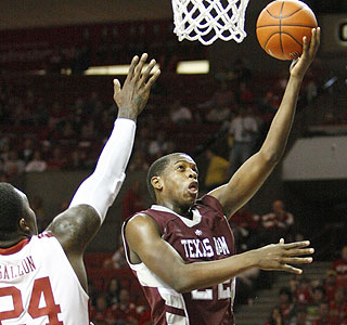 Khris Middleton scores 15 for A&M, which heads to the Big 12 tourney with an 11-5 conference mark. (AP)