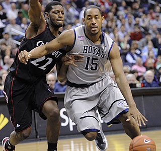 After a hospital trip and diabetes diagnosis, Austin Freeman returns to score 24 for the Hoyas.  (AP)