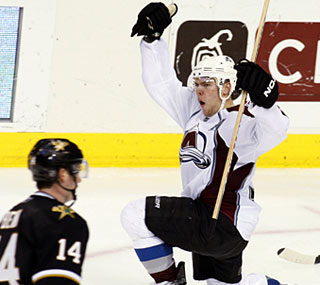 Paul Stastny finds the back of the net twice as the Avalanche take down the Stars.  (AP)