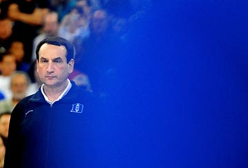 In the discussion about the South Regional, it seems as if Mike Krzyzewski and Duke are barely in the picture. (US Presswire)