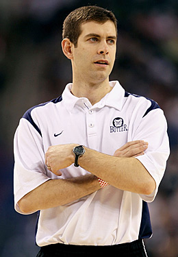 If Brad Stevens makes Butler his long-term home, the sky's the limit for the Bulldogs. (Getty Images)