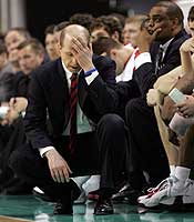 Herb Sendek was hounded by fans and media while in Raleigh. (Getty Images)