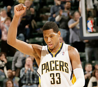 Danny Granger helps the Pacers finally reach the win column in the Central Division.  (Getty Images)