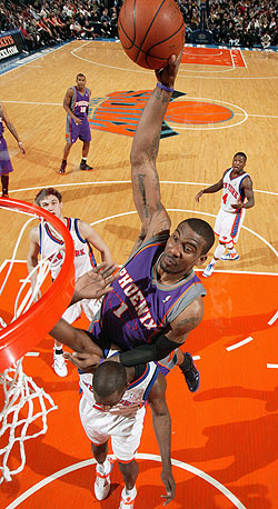 Amare Stoudemire's Suns are barely in the West playoff picture. (Getty Images)