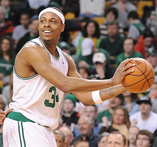 Paul Pierce picks up the scoring slack, putting in 36 to help Boston win its 11th straight.  (Getty Images)