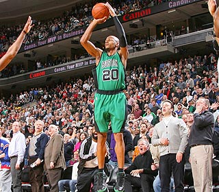 The fans know it. So do the Sixers. Giving Ray Allen so much room is a recipe for disaster. (Getty Images)