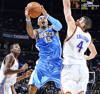 It's the second time in two trips to Oklahoma City that Anthony hits the game winner.  (Getty Images)