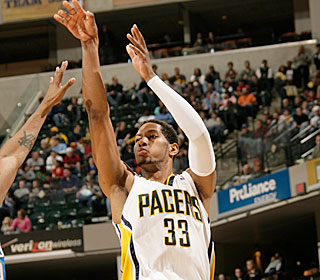 All-Star Danny Granger tops the 30-point plateau for the 15th time this season.  (Getty Images)