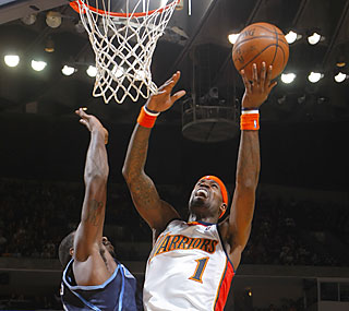 Stephen Jackson finishes just two assists shy of capturing a triple-double against Utah.  (Getty Images)