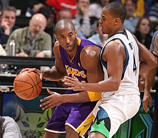 Kobe Bryant has left many defenders helpless on his way up the scoring list.  (Getty Images)