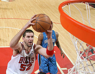 Brad Miller is one of three newcomers to fuel Chicago's rout over Orlando.  (Getty Images)