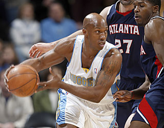 Chauncey Billups rebounds from a 3-point outing by scoring a season-high 33 for the Nuggets.  (AP)