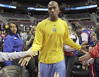 In his return to the Palace, Chauncey Billups gets plenty of love -- just not the win. (AP)