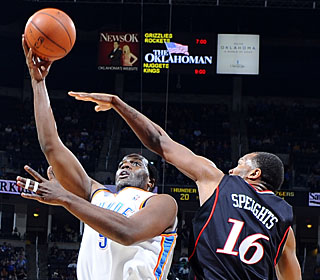 Malik Rose puts up season highs with 14 points and seven rebounds against Philly.  (Getty Images)