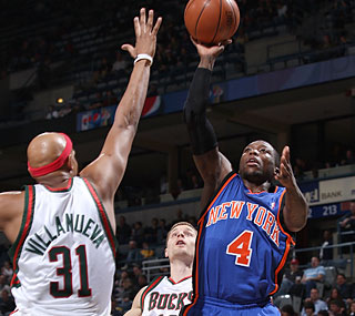 What Nate Robinson (32 points, seven assists) lacks in size he makes up for on offense.  (Getty Images)