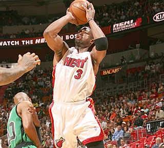 Dwyane Wade ties a Heat record by scoring at least 20 points in 20 consecutive games. (Getty Images)
