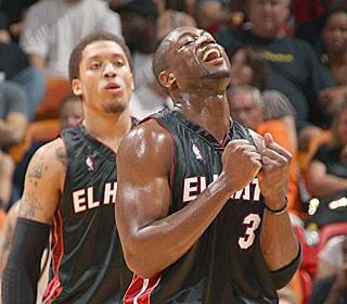 Dwyane Wade has reason to smile after becoming the Heat's all-time leading scorer.  (Getty Images)