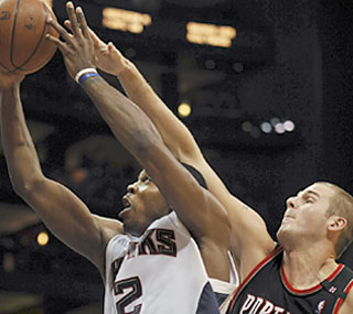 Joe Johnson torments Portland by producing 35 points, seven rebounds and six assists.  (AP)
