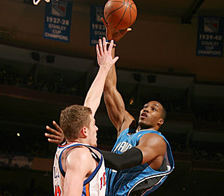 Dwight Howard and Orlando reduce their magic number for clinching the Southeast to one.  (Getty Images)