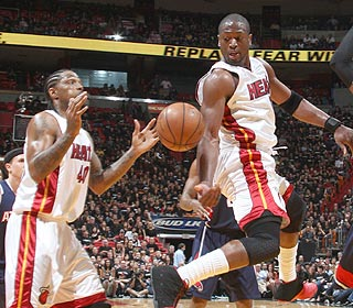 The passing is crisp and the offense is tight. Dwyane Wade's Heat are in control all game.  (Getty Images)