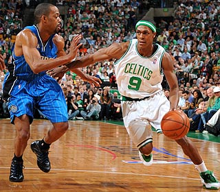 Rajon Rondo has 15 points, 18 assists and 11 rebounds for his third triple-double of the playoffs.