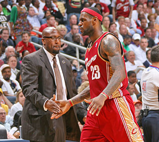 Coach Mike Brown and LeBron are heading to the Eastern finals for the second time in three seasons.