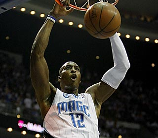 Despite only playing 28 minutes because of foul trouble, Dwight Howard has 24 points and nine boards.