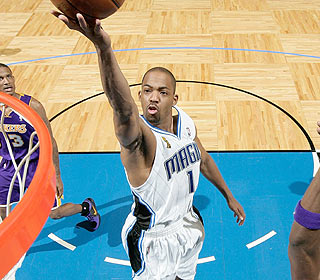 After two awful games in Los Angeles, Rafer Alston busts loose with 20 points in the victory.