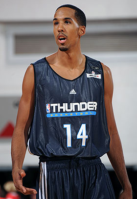 Shaun Livingston, who played nine games for Oklahoma City during the season, was back in action with the Thunder this summer.