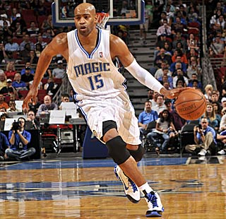 The slashing Vince Carter scores eight points in his home debut for the Magic. (Getty Images)