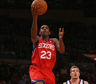Lou Williams nearly goes for a triple-double, getting 27 points, 10 boards and seven assists.  (Getty Images)