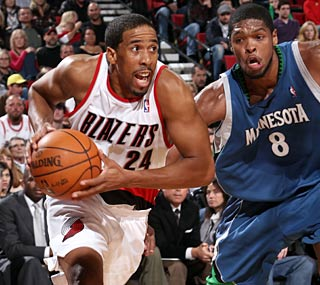 Andre Miller picks up the scoring slack for Portland, ending the night with 21 points.  (Getty Images)