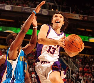 Steve Nash's Suns are atop the West with a big game coming up against the Lakers.  (Getty Images)