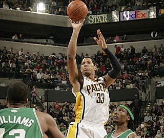 Danny Granger scores 29 after promising the Pacers would win their fourth in a row.   (Getty Images)