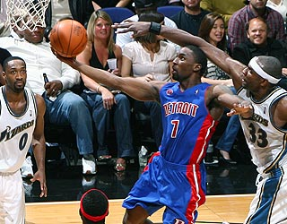Ben Gordon scores a game-high 29 points as the Pistons win their third in a row. (Getty Images)