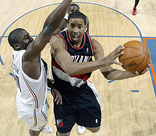 Andre Miller scores 15 points for the Blazers, who wrap up a five-game road trip Monday. (Getty Images)