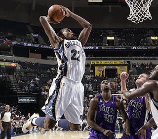 Rudy Gay skies his way to 24 points in the win, hitting 10 of 17 shots in the process. (Getty Images)