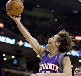 Steve Nash gets the Suns' high-octane offense going with 20 points and 16 assists.  (AP)