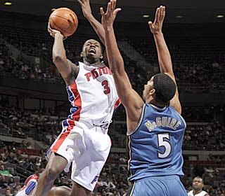 Rodney Stuckey leads five Pistons in double figures with a game-high 25 points.  (Getty Images)