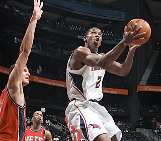 Joe Johnson makes the most of his 31 minutes, scoring 21 on 7 of 12 shooting from the field.  (Getty Images)