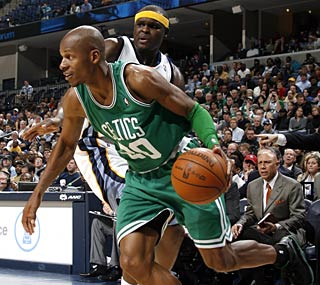 Ray Allen scores 18 points -- including a game-sealing 3-pointer -- to keep the Celtics rolling.  (Getty Images)