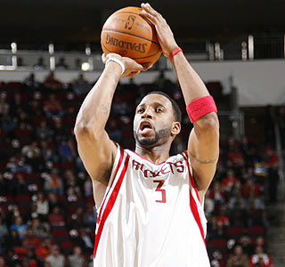 Welcome back, T-Mac: Tracy McGrady scores three points in limited action vs. Detroit. (Getty Images)