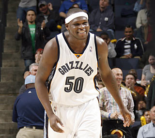 It's just too easy for Zach Randolph, who records a season-high 33 points and 18 rebounds.  (Getty Images)
