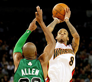 Monta Ellis torments the Celtics with a 37-point effort, including a pair of crucial free throws.  (Getty Images)